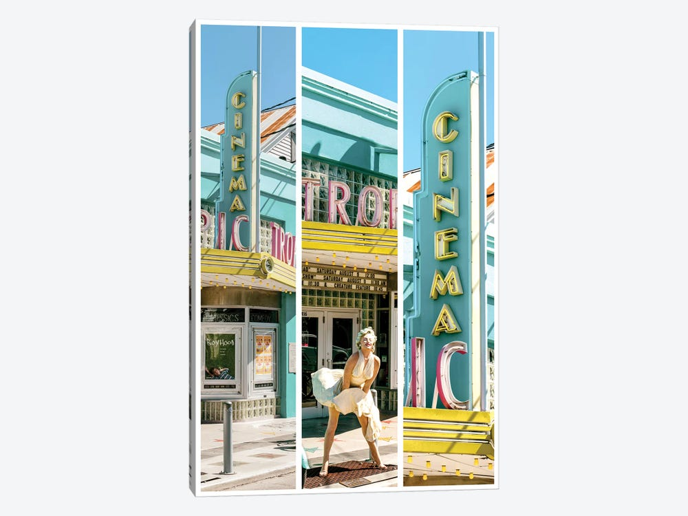 Key West Triptych - Marilyn by Philippe Hugonnard 1-piece Canvas Print