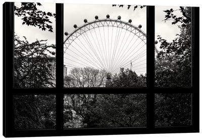 Loft Window View - London Eye Canvas Art Print