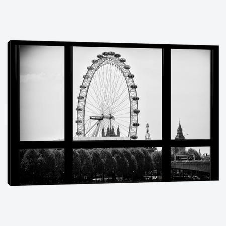 Loft Window View - The London Eye Canvas Print #PHD523} by Philippe Hugonnard Canvas Art Print