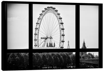Loft Window View - The London Eye Canvas Art Print