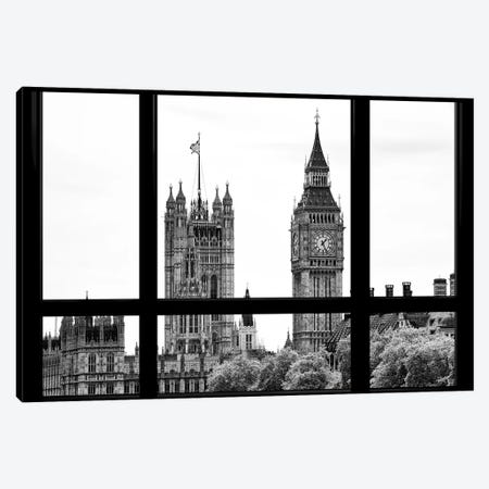 Loft Window View - Big Ben London Canvas Print #PHD524} by Philippe Hugonnard Canvas Wall Art