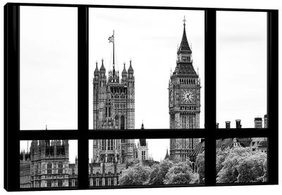 Loft Window View - Big Ben London Canvas Art Print