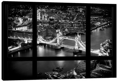 Loft Window View -The Beauty Of London Canvas Art Print