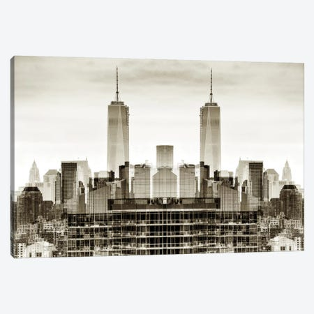 New York Reflection - One World Trade Center Canvas Print #PHD52} by Philippe Hugonnard Canvas Print