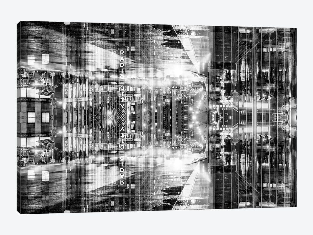 New York Reflection - Radio City by Philippe Hugonnard 1-piece Canvas Artwork