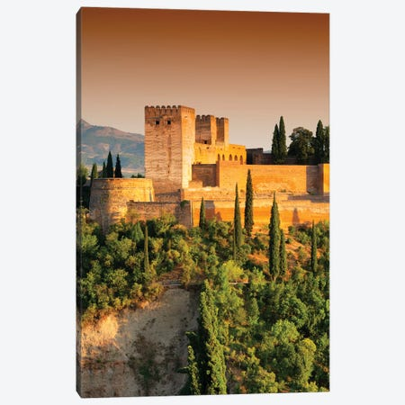 The Alhambra at Sunset Canvas Print #PHD540} by Philippe Hugonnard Art Print