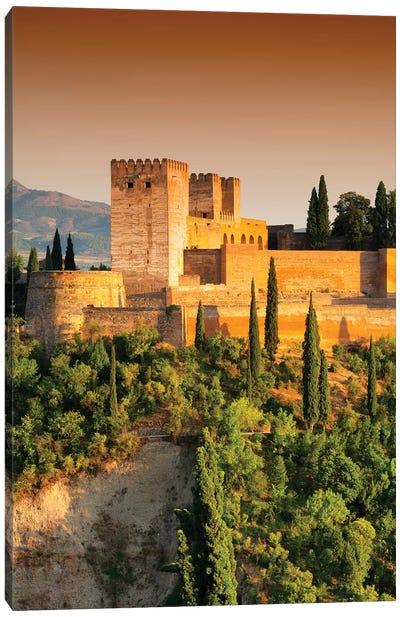 The Alhambra at Sunset Canvas Art Print