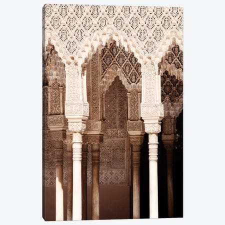 Arabic Arches in Alhambra Canvas Print #PHD541} by Philippe Hugonnard Canvas Art Print