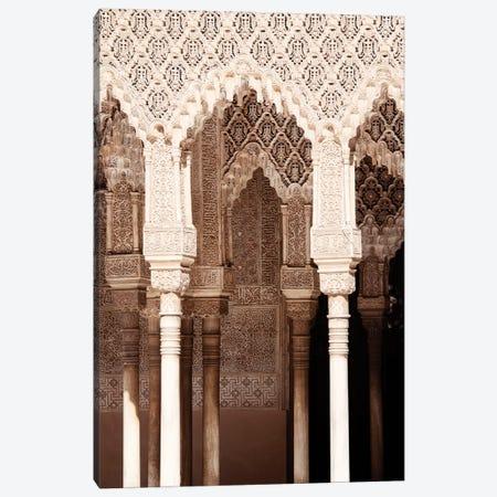 Arabic Arches in Alhambra Canvas Print #PHD541} by Philippe Hugonnard Canvas Art Print