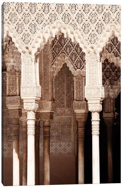 Arabic Arches in Alhambra Canvas Art Print