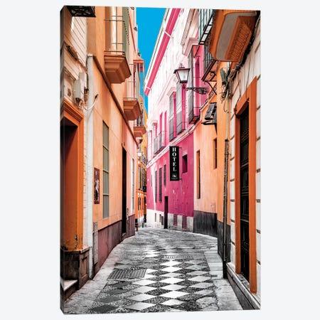 Colourful Pedestrian Street in Seville I Canvas Print #PHD544} by Philippe Hugonnard Canvas Artwork