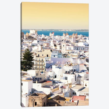 Cadiz White City at Sunset Canvas Print #PHD546} by Philippe Hugonnard Canvas Art