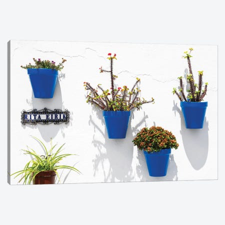 Blue Pots Wall Canvas Print #PHD547} by Philippe Hugonnard Canvas Wall Art