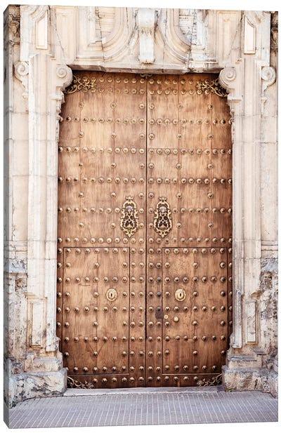 Old Wooden Door to Cordoba Canvas Art Print