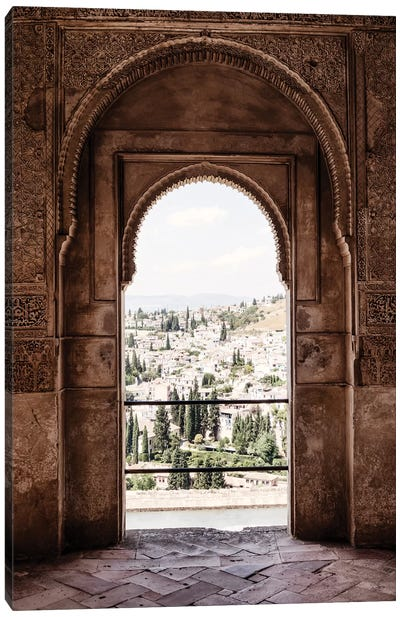 View of the city of Granada Canvas Art Print