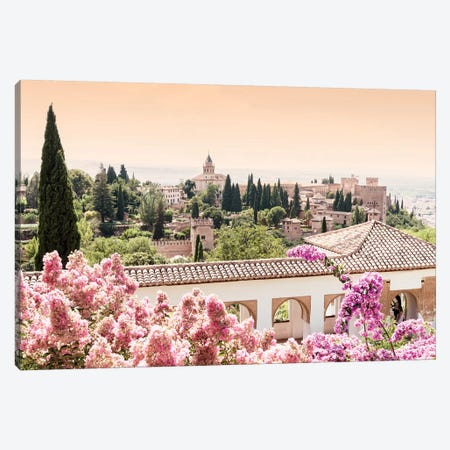 Flowers of Alhambra Gardens Canvas Print #PHD558} by Philippe Hugonnard Canvas Art