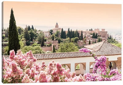 Flowers of Alhambra Gardens Canvas Art Print