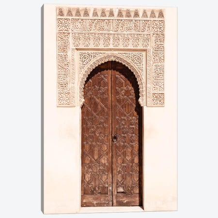 Arab Door in the Alhambra Canvas Print #PHD559} by Philippe Hugonnard Canvas Artwork