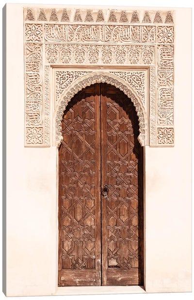 Arab Door in the Alhambra Canvas Art Print