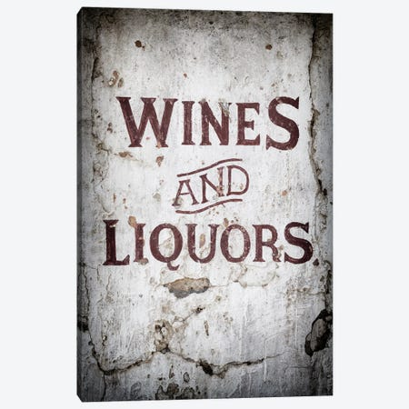 Wines and Liquors Sign Canvas Print #PHD560} by Philippe Hugonnard Art Print