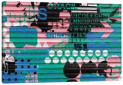 Colourful Curtain Art Canvas Art Print