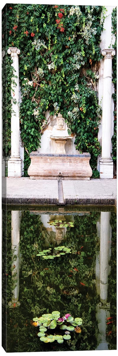 Fountain in the Gardens of Real Alcazar Canvas Art Print