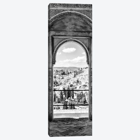 View Of The City Of Granada In Black & White Canvas Print #PHD567} by Philippe Hugonnard Canvas Artwork