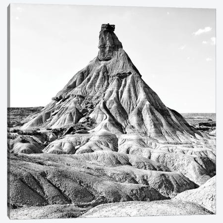 Bardenas Reales B&W Canvas Print #PHD569} by Philippe Hugonnard Art Print
