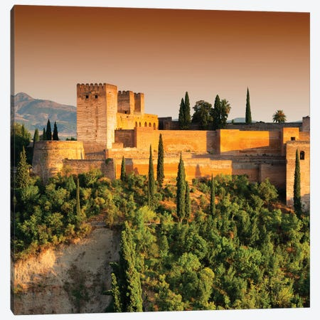 Sunset over The Alhambra Canvas Print #PHD571} by Philippe Hugonnard Canvas Wall Art
