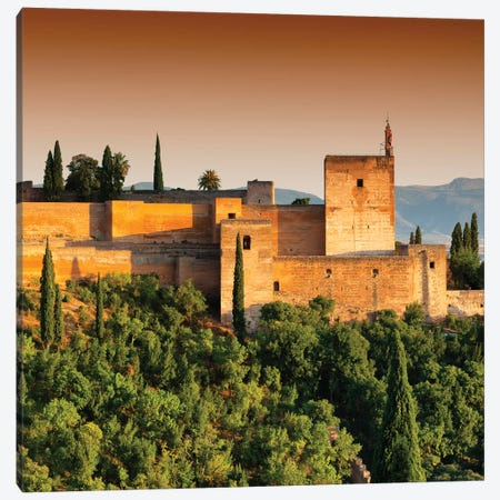 Sunset over The Alhambra III Canvas Print #PHD572} by Philippe Hugonnard Canvas Wall Art