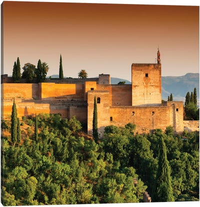 Sunset over The Alhambra III Canvas Art Print