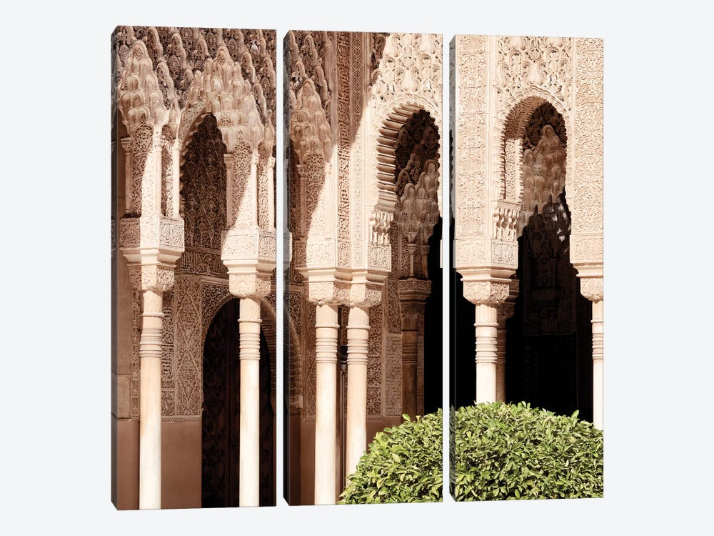 Arabic Arches in Alhambra by Philippe Hugonnard 3-piece Canvas Art