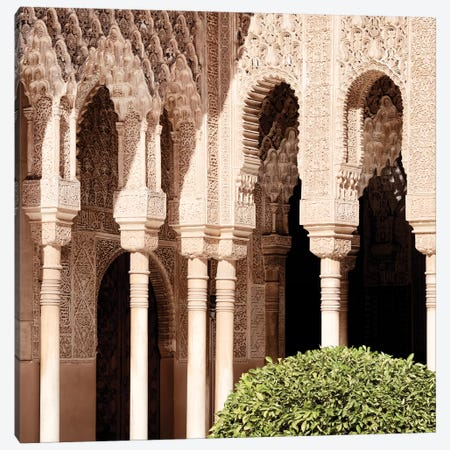 Arabic Arches in Alhambra Canvas Print #PHD573} by Philippe Hugonnard Canvas Artwork