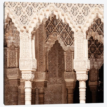 Arabic Arches in Alhambra II Canvas Print #PHD574} by Philippe Hugonnard Art Print