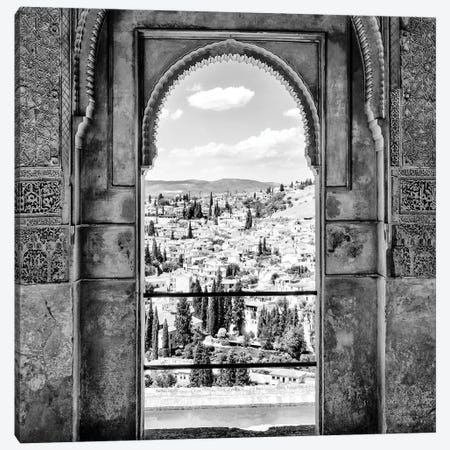 View of the city of Granada B&W Canvas Print #PHD577} by Philippe Hugonnard Canvas Print