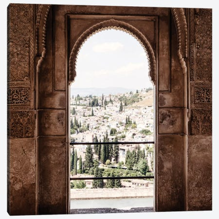 View of the city of Granada Canvas Print #PHD578} by Philippe Hugonnard Canvas Art