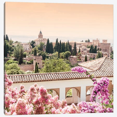 Flowers of Alhambra Gardens Canvas Print #PHD579} by Philippe Hugonnard Canvas Art