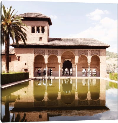 The Partal Gardens of Alhambra - Granada Canvas Art Print