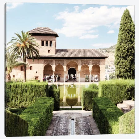 Partal Gardens of Alhambra Canvas Print #PHD582} by Philippe Hugonnard Art Print