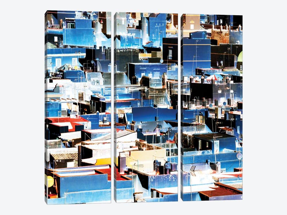 Blue Cadiz by Philippe Hugonnard 3-piece Canvas Art Print