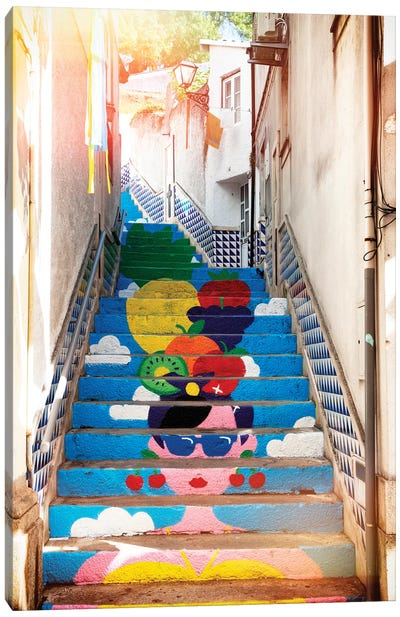 Tropical Staircase I Canvas Art Print