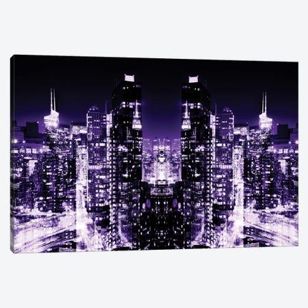 Skyline at Purple Night Canvas Print #PHD58} by Philippe Hugonnard Canvas Print