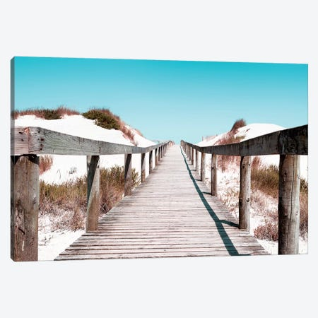 Boardwalk on the Beach Canvas Print #PHD592} by Philippe Hugonnard Canvas Art