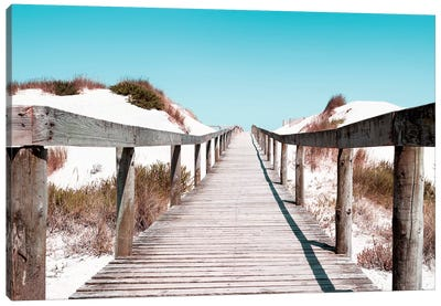 Boardwalk on the Beach Canvas Art Print