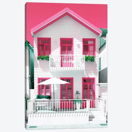 White House and Pink Windows Canvas Print #PHD597} by Philippe Hugonnard Canvas Art Print