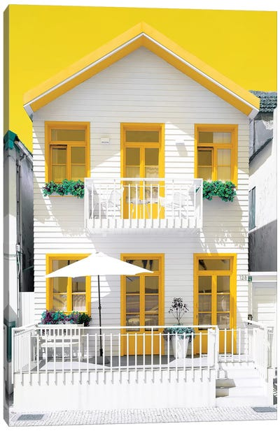 White House and Yellow Windows Canvas Art Print