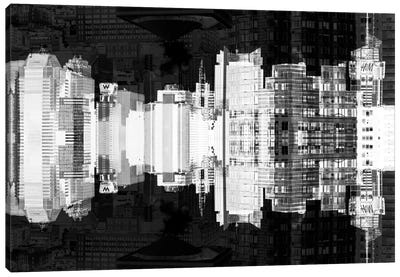 Times Square Buildings - Infrared Canvas Art Print