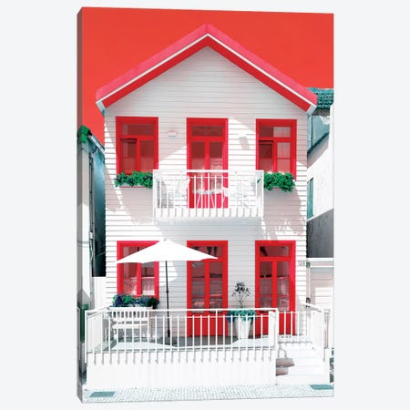 White House and Red Windows Canvas Print #PHD600} by Philippe Hugonnard Canvas Art