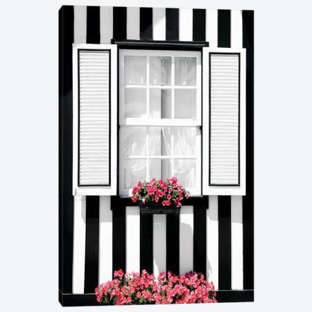 Black and White Striped Window Canvas Print #PHD605} by Philippe Hugonnard Canvas Print