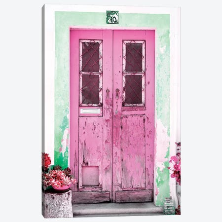 Old Pink Door Canvas Print #PHD606} by Philippe Hugonnard Canvas Art Print